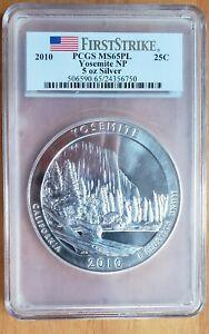 2010-P Yosemite America The Beautiful ATB 5 Oz Silver Coin PCGS MS65PL