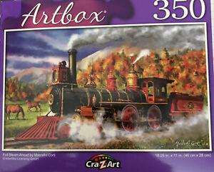 "New 350 Piece Jigsaw Puzzle (Full Steam Ahead) 18.25"" X 11"""