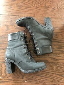 timberland boots Black Glancy Size 8