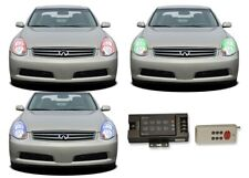 for Infiniti G35 05-06 RGB Multi Color RF LED Halo kit for Headlights