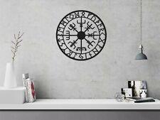 Vikings Metal Wall Decor, Round Metal Wall Hanging, Decorative Wall Art Black