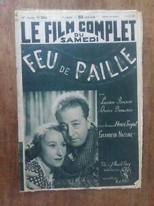 Rivista Film Completo Luce Paglia Lucien Baroux Arancione Demaris 1939