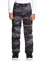 Quiksilver Estate Snow Pants - Boys - Black Matte Painting (KVM9) - 16/XXL