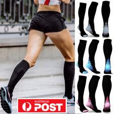 Compression Socks Sports Men Women Calf Shin Leg Fitness Running CrossFit S~XL