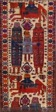 Vintage Pictorial Kings & Family Dynasty Historical Lori Hand-Knotted Rug 5'x13'
