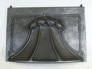 "Lovely Original Antique Art Nouveau Fireplace Spares 15 1/2""-16"" Sliding Hood"