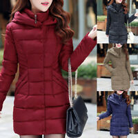 Womens Ladies Quilted Padded Bubble Hooded Warm Puffer Coat Jacket Outwear C998