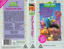 SESAME STREET ~GET UP AND DANCE AND SING YOURSELF SILLY VHS PAL