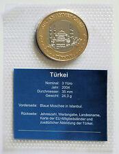 "3 Yüro Türkei Bimetall ""Blaue Moschee Istanbul"""