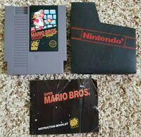 Original Super Mario Bros. Nintendo NES 5-screw with Manual and Dust Sleeve