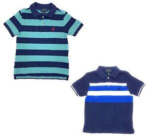 Polo Ralph Lauren Little Boys Mesh Striped Casual Fashion School Polo Shirt 2T-7