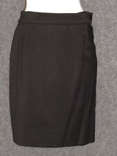 CASSOLI Black Satin A-Line Skirts SZ S