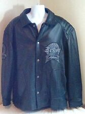 Schott Men's New York City Black Leather Jacket Motorcycle Bomber Studded 6XL FS