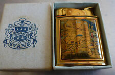 Vintage Evans Case Alaska State Cigarette Lighter map