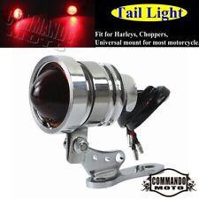 LED Tail Light Bullet Rear Fender Brake Lamp Blinker For Harley Bobber Chopper