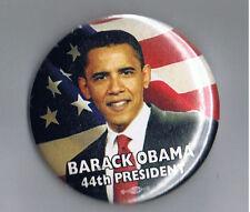 "Barack Obama 2.25"" Political Ad Pinback Button 44th President United States Flag"