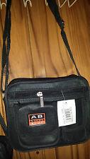Joblot 12 pcs Mens Nylon Black Shoulder man bag cross body Small Bag wholesale