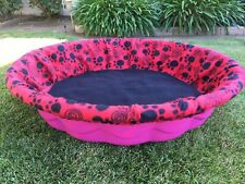 Large Fleece Whelping Pool Box Cover - Litters Puppies - Kiddie Wading Paw Print