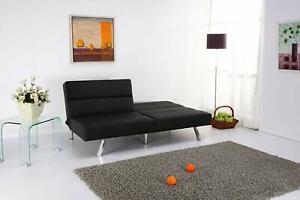 """Echtwerk Schlafsofa """"Swing"""" Kunstleder schwarz Couch Schlafcouch Sofa Schlaf"""