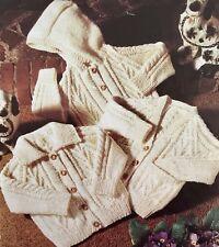 "FK37 - Knitting Pattern - Children's Aran Cardigan Jacket / Coat- 20-28"""