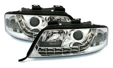 PHARES OPTIQUES AV DEVIL EYES LED CHROME AUDI A6 C5 4B 1997-2001 1.9TDI 2.5TDI
