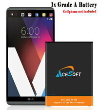 Long Lasting AceSoft 5320mAh Extended Slim Battery for LG V20 BL-44E1F CellPhone