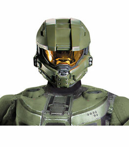 Master Chief Halo Army Video Games Adult Men Costume Mask Helmet
