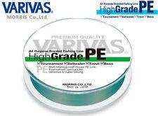 VARIVAS HIGH GRADE PE 150 MT TRECCIATO 14.9 LB  GREEN + FLUOROCARBON SPINNING