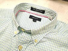 Gant Rugger 100% Cotton Long Beach Poplin Tattersall Sport Shirt NWT Large $135