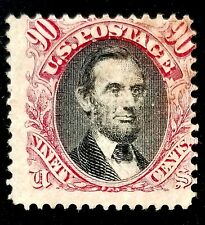 US SCOTT# 122 W/PF CERT 90 CENT LINCOLN PICTORIAL USED FRESH!