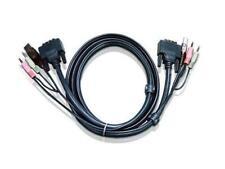 Aten 2L7D03UI USB DVI-I Single Link KVM Cable (10ft)