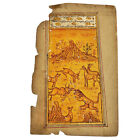 Antique Middle Eastern Painting On Islamic Arabic Book Leaf Rare Artwork - B