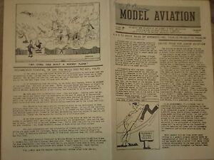 Dec 1941 Model Aviation Bulletin Of Academy Of Model Aeronautic Tethered Flying