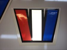 2 Wellcraft W boat decal set HUGE 12 x 16.5 inches Reflective red white & blue W