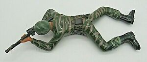"""Vintage Crawling Army Man Battery Operated 12"""" Regency Inc.1987 works"""