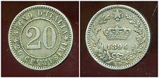 ITALIE  20 centesimi  1894 KB