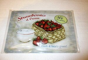 Strawberries and Cream Sign