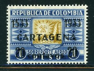 COLOMBIA MLH: Scott #C113 20c/1P 400th Ann Cartagena SCHG CV$6+