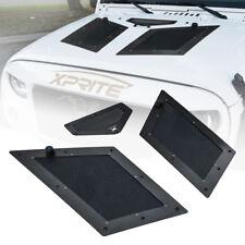 Xprite Black Air Vents Hood Scoop Cobra Louver for 07-17 Jeep Wrangler JK