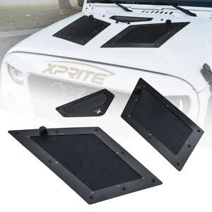 Xprite Black Cobra Air Vents Hood Scoop Louver for 07-18 Jeep Wrangler JK JKU