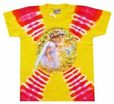 T-Shirt pink gelb: Blumen Elfe Engel, Gr. 146*152 Blumenkind Fantasy Märchen Fee