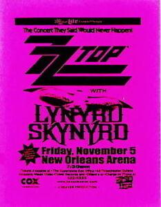 LYNYRD SKYNYRD / ZZ TOP 1999 TOUR NEW ORLEANS CONCERT FLYER / HANDBILL No. 3