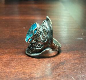 Shablool Blue Topaz Sterling Silver Ring