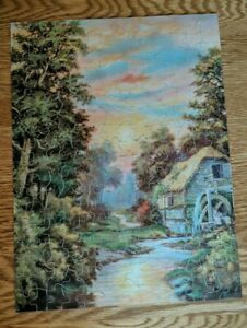1930's Perfect Picture Puzzle 14.5x11 250 Pc No 1410 Old Mill Stream PS