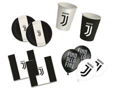Kit Compleanno Juventus 16 Persone - Piatti, Bicchieri, Tovaglioli e Palloncini