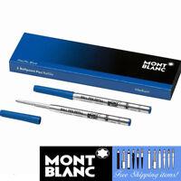 Montblanc 2 Ballpoint Refills [116212] Fine Point Pacific Blue Pen Cartridge