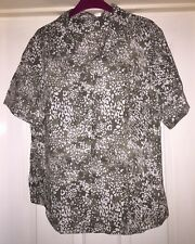 Damart Blouse Size 18 Khaki Mix