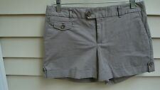 Banana Republic Outlet Sz 4 Martin Fit Coin Pocket Bistre Taupe Roll Cuff Shorts