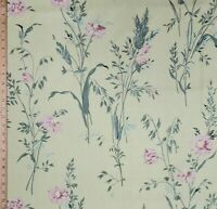"Vintage Cyrus Clark Cotton ""Meadow"" Floral Polished Cotton NOS Listing BTY"
