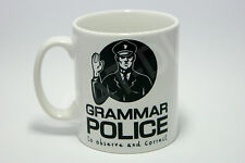 Grammar Police Mug Funny Joke Rude Office Work  English Coffee Gift Christmas